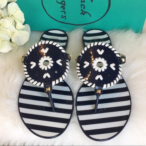 4f48f6a6b939 Jack Rogers Georgica Jelly Striped Sandals NWT